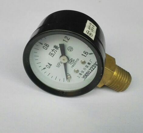 Manómetro Y-40 hilo Pt1/4 diámetro 40mm 0-1.6mpa