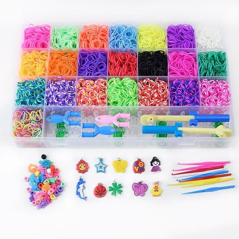 مجموعة من أحزمة السيليكون المطاطية ، صندوق نول ، DIY ، لعبة ، منتجات الأطفال