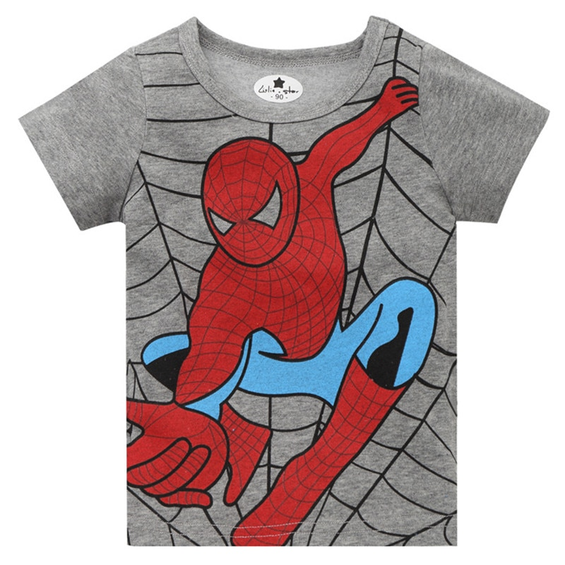 2-8 años superhéroe spiderman cosplay Camiseta de manga corta para niño pequeño niños grandes Tees tops niños camisetas ropa de verano de los niños para regalos