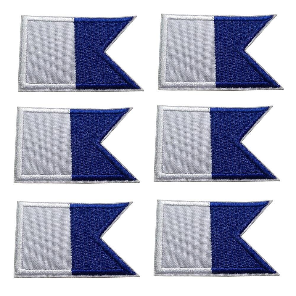 Parche de bandera bordado para buceo 2/6/12 Uds. Parches de hierro para mochila bolsa parche de bandera 6*4CM