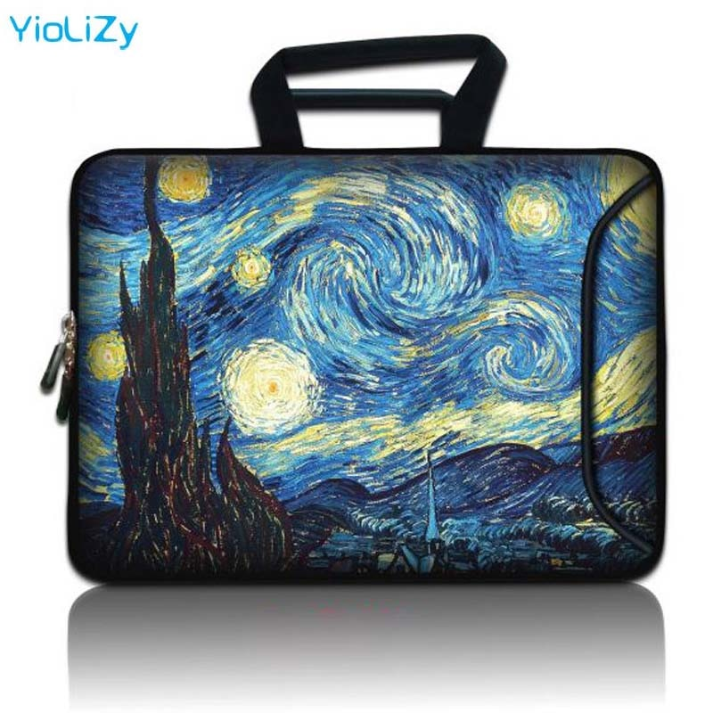 Van Gogh print Laptop pouch Tablet Bag 9.7 12 13 14 15.6 17.3 Notebook sleeve protective case for cover macbook air 13 SBP-24818