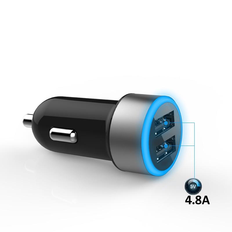 INGMAYA Car Charger Dual USB 4.8A Fast Charging For iPhone 5 5S 6 6S 7 Plus Ipad Samsung Huawei Nexus ZTE Lenovo PSP DV Adapter enlarge