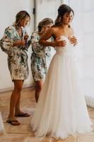 2019 sweetheart lace appliques top tulle a line wedding dresses sweetheart formal garden vestidos de mariee bridal gowns long