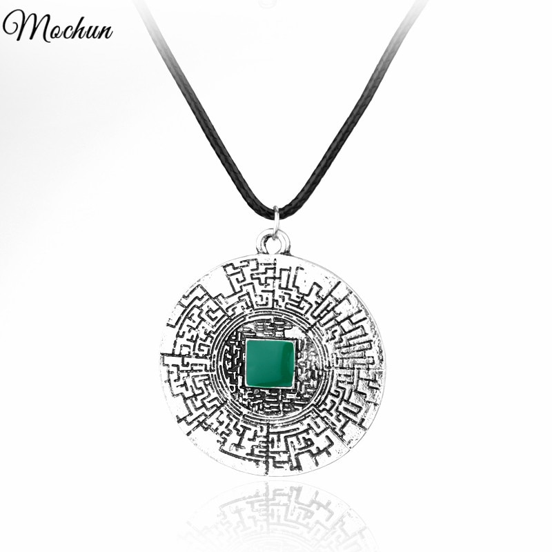 MQCHUN The Maze Runner labyrinth pendant Thomas leather necklace fashion movies jewelry for men wome