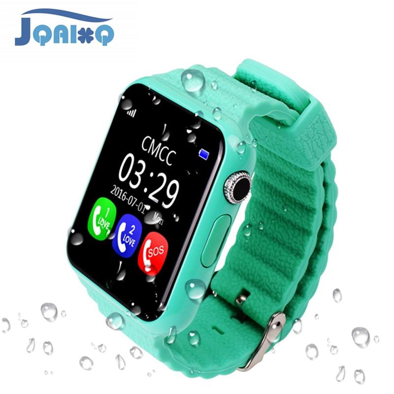 Оригинальный V7K gps Bluetooth Smart часы для детей мальчик девочка Apple телефона Android Поддержка SIM/TF циферблат вызов и нажмите сообщение умные часы для ...