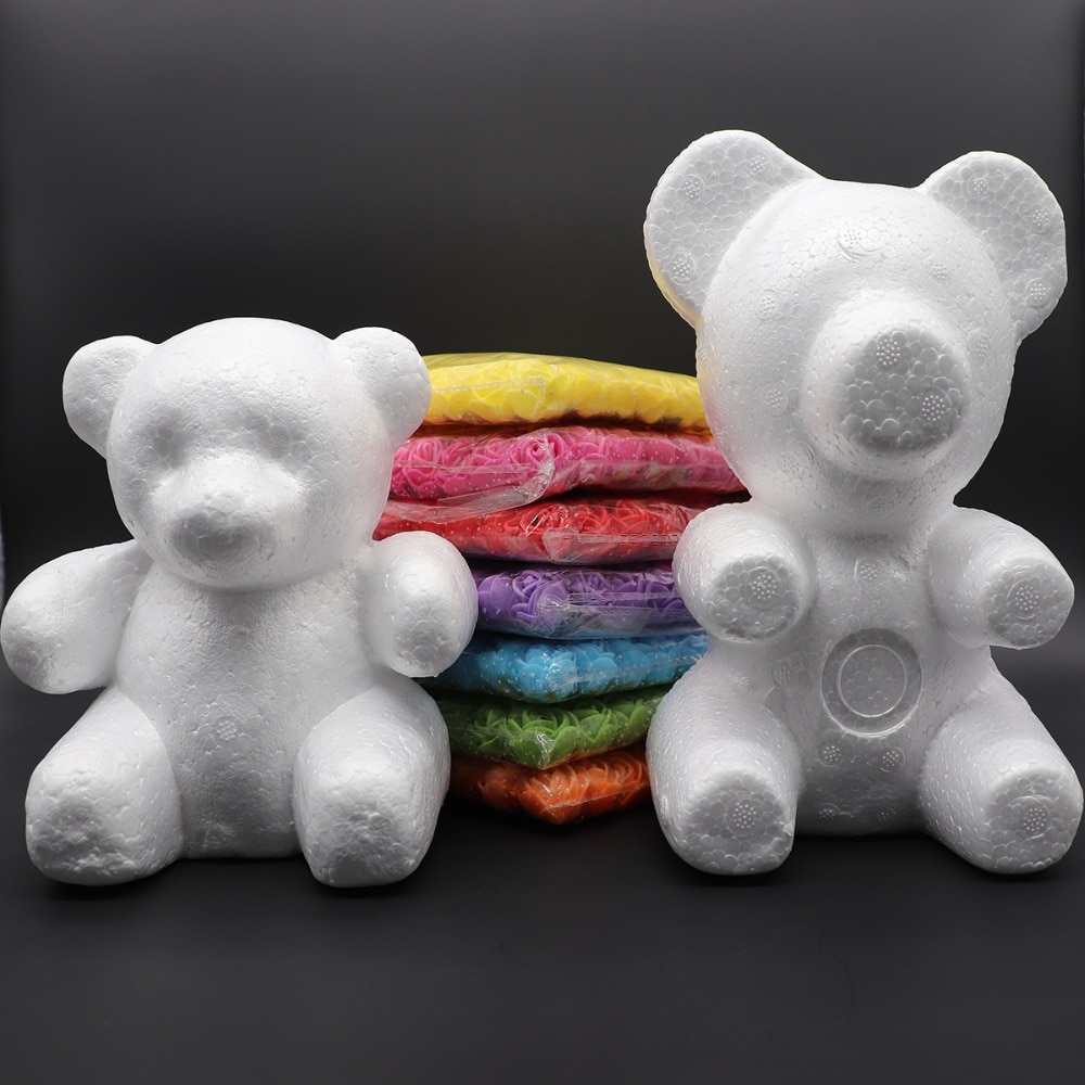 1 шт. 150 мм/200 мм моделирование пенополистирол медведь белые шары для поделок для DIY Рождественская вечеринка украшения принадлежности подарки