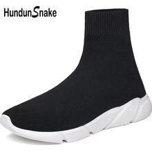 Hundunsnake yaz ayakkabı erkek ayakkabısı spor kadınlar koşu çorap ayakkabı erkek spor ayakkabı yüksek Top Chaussure Homme siyah yürüyüş A-037