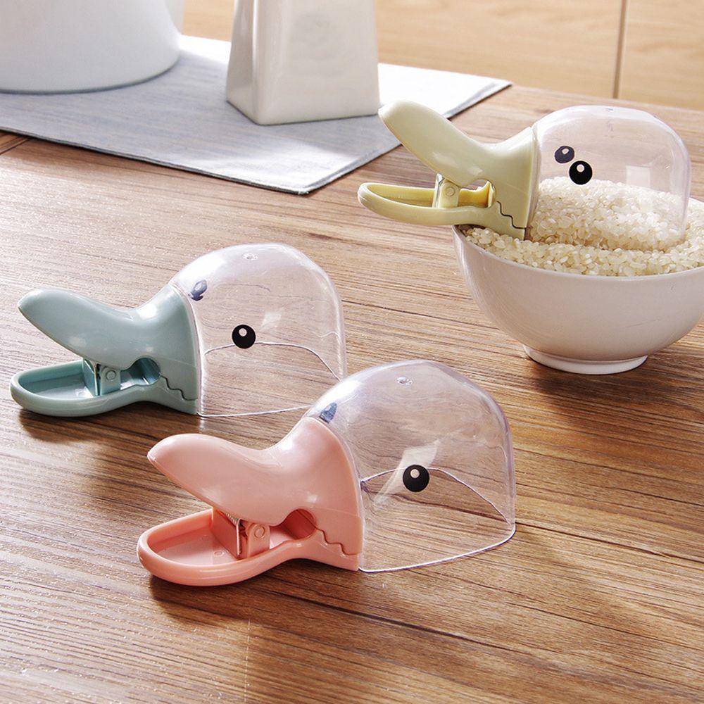 1PC Neue Kreative Messbecher Bag Sealing Clips Faltbare Haustier Hund Katze Lebensmittel Fütterung Scoop Löffel Abdichtung Clip Küche liefert