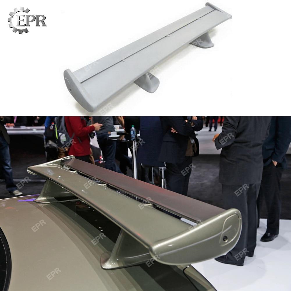 Para Nissan Skyline R34 GTR FRP, Kit de carrocería de alerón trasero de fibra de vidrio para GTR R34, alerón OEM de fibra de vidrio (hoja + tapas + soporte