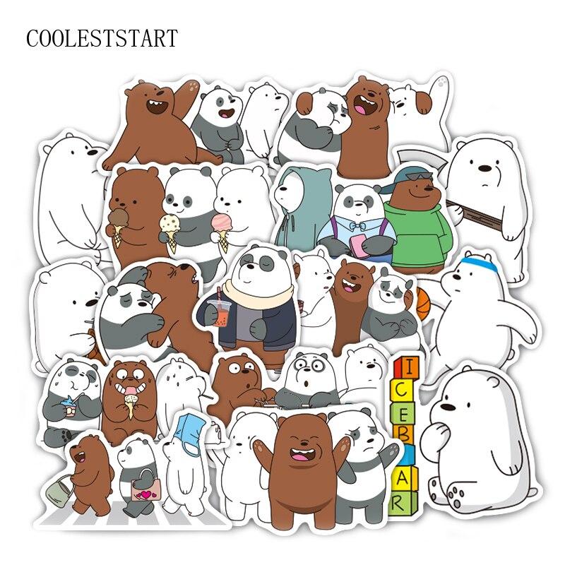 36 шт./компл. наклейки «Медвежата», симпатичная маленькая наклейка с медведем, ПВХ водонепроницаемая граффити-наклейка для ноутбука, чемодана, игрушечного автомобиля