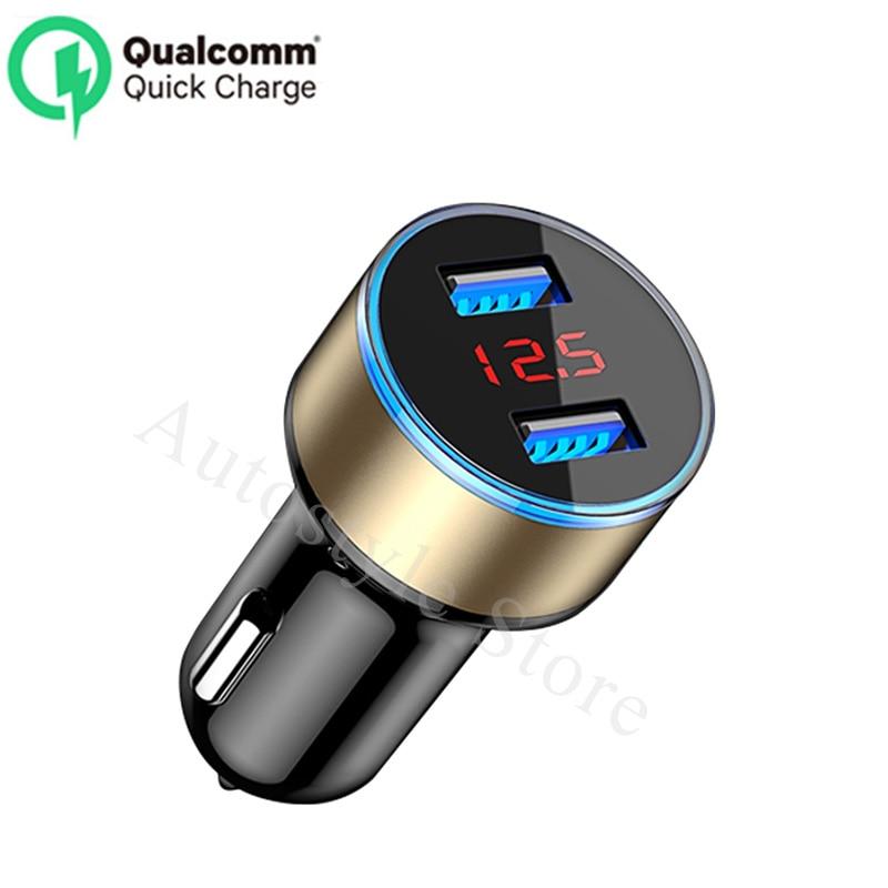 Cargador de coche 5 V 3.1A con pantalla LED Universal Dual Usb para opel insignia astra g j f k vectra c h corsa c b d omega zafira b