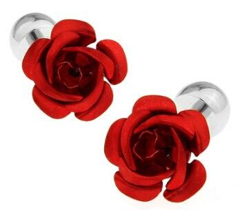 O envio gratuito de Abotoaduras azul vermelho cor de rosa projeto copper material men abotoaduras whoelsale & retail