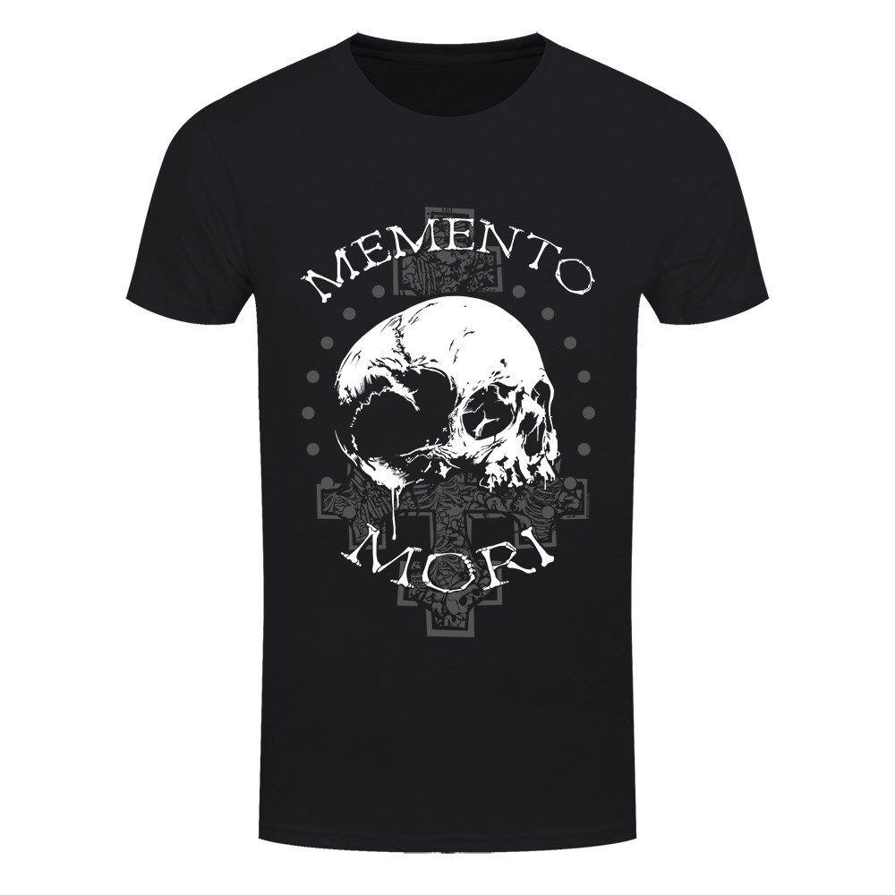 Memento Mori camisa Preta de T dos homens Novo Macho Chegada T-shirt T-Shirt do Menino Casual Tops Descontos Moda 2018 Top Tee mens top tee