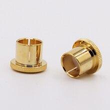 8pcs Noise Stopper 24K Gold Plated Copper RCA Plug Caps Top Quality  under inset