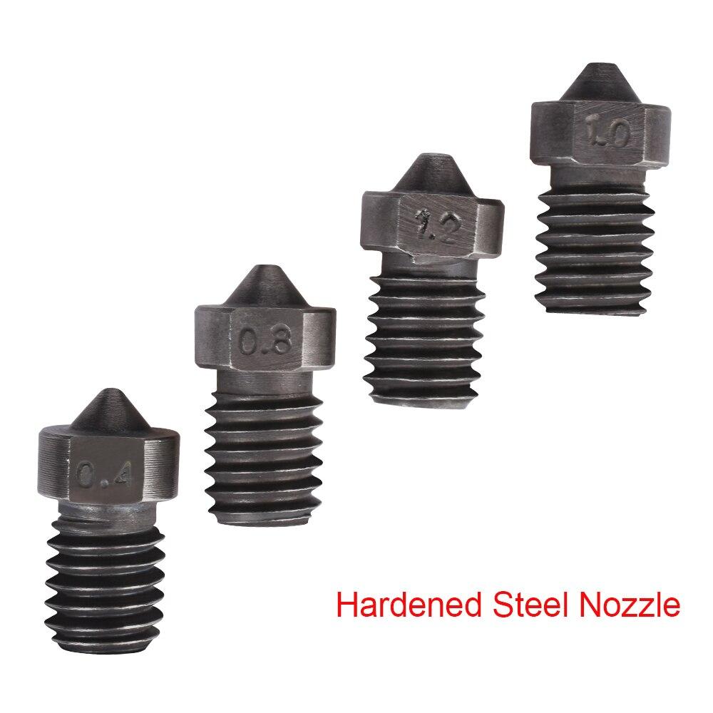 Boquilla de acero endurecido V6 boquilla V6 j-head Hotend Kit extrusora Bowden para piezas de impresora 3D 1,75 MM filamento 0,4-1,5 MM boquilla V5 V6