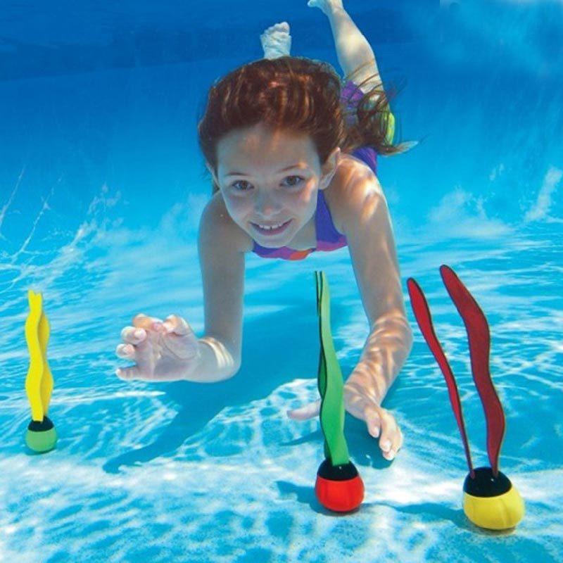 Детская одежда для плавания с трубкой аксессуары для бассейна водная игрушка Подводные игрушки палка для дайвинга морские водоросли детск...