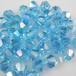 Frete grátis, 720 pçs/lote 3 mm Aquamarine AB cor chineses Top qualidade de cristal Bicone Beads