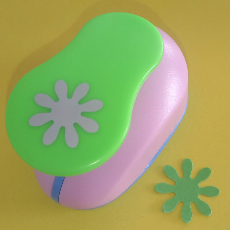 "Envío gratis 1 ""forma de pétalo papel de ahorro de energía/espuma eva flor artesanal punzón álbum de recortes hecho a mano perforadores de margaritas perforadoras"