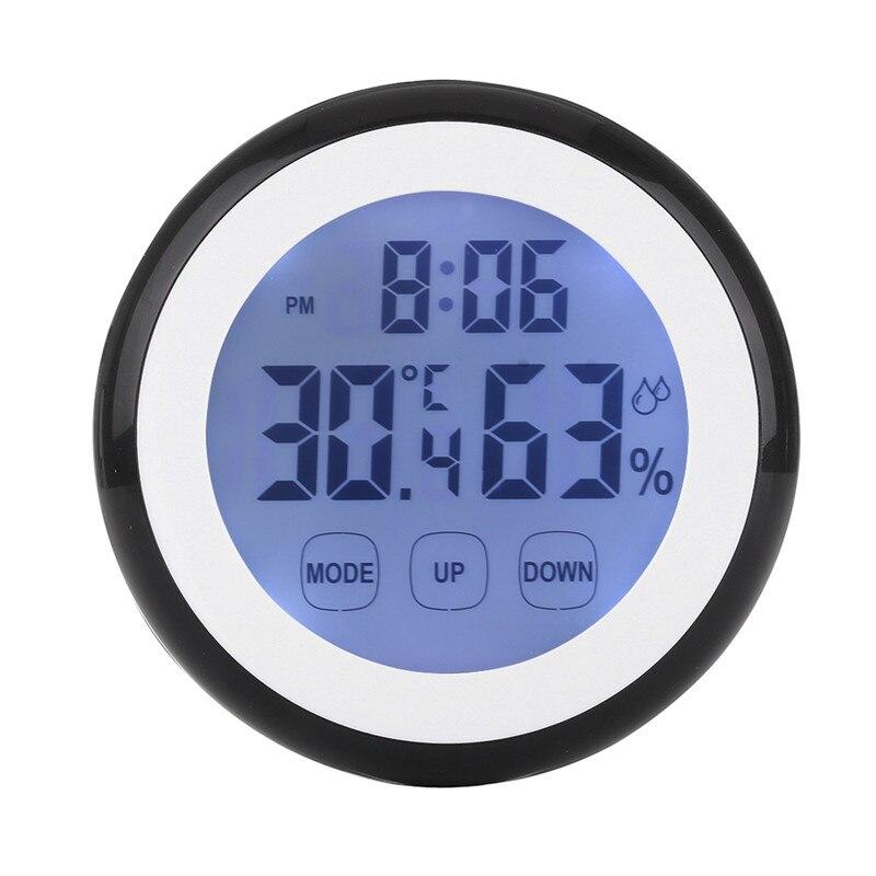 Caliente de plástico Digital de temperatura y humedad de la función de hora Reloj de pared interior estación medidor de luz de fondo con LCD Relojes