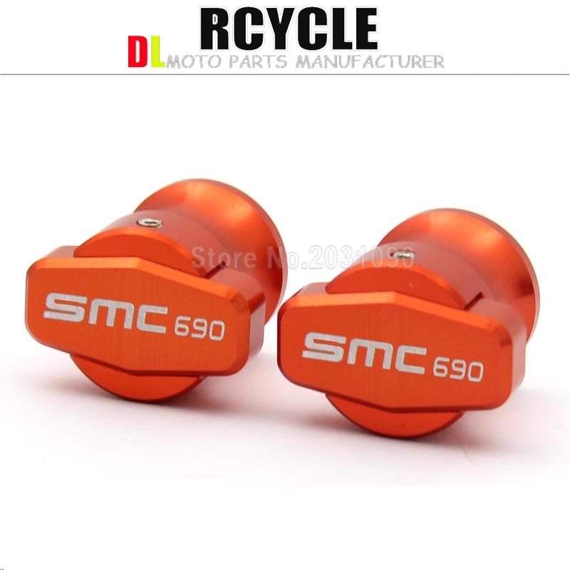 10MM Basculante carretes deslizantes para KTM 690 SMC 690SMC SMC-R 690SMC-R motocicleta CNC tornillos de soporte de aluminio