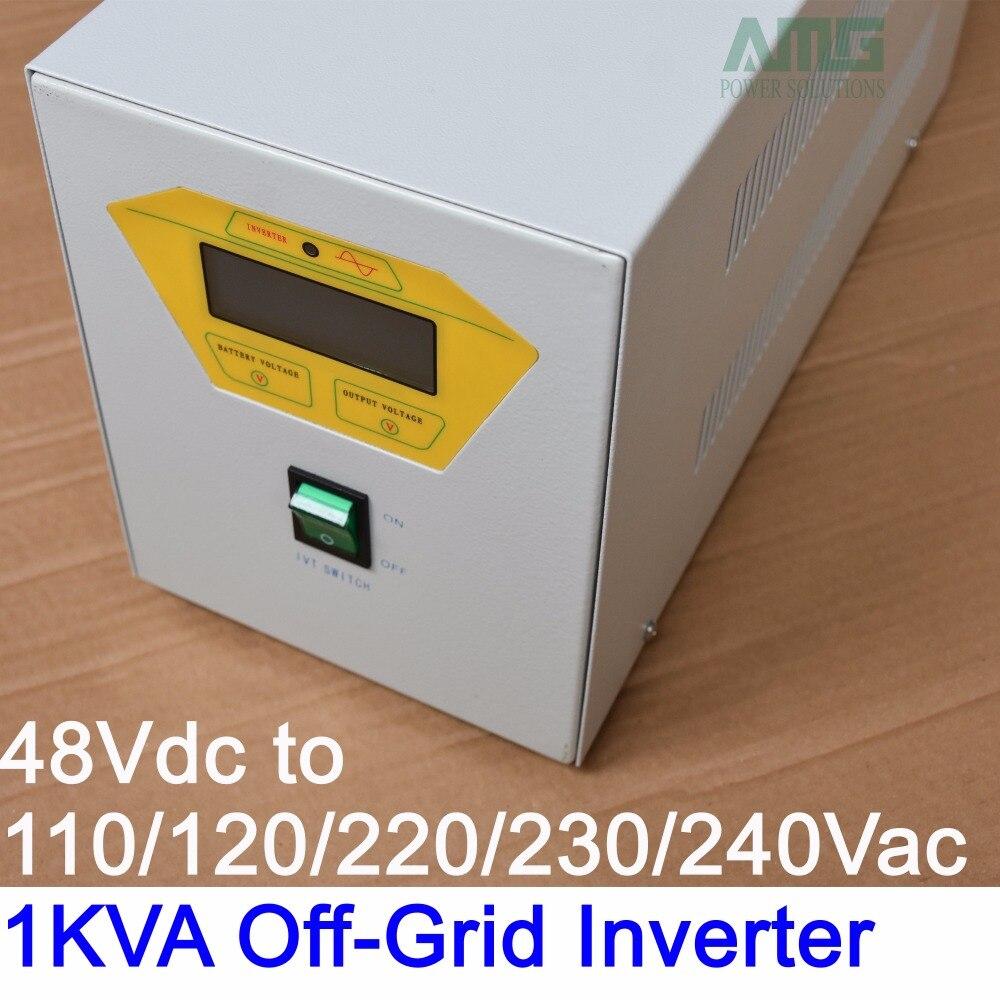 Inversor solar de 110 va de onda sinusoidal pura fuera de la Red 24 V/48Vdc a 120/220/230/ /240VAC 50/60Hz Industrial frecuencia