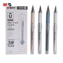 M & g 색상 간단한 젤 펜 학생 고정 0.5mm 학교 사무 용품 블랙 잉크 프로 모션 도매 1pc
