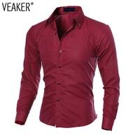2019 New Men's Casual Grid Shirts Male Slim Fit Business Shirt Tops Men Autumn Long Sleeve Black Red Plaid Shirts Plus Size 5XL