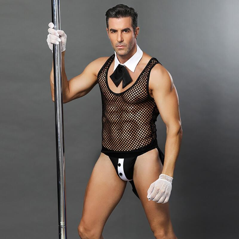 Sexy traje de esmoquin para hombre traje exótico de halloween Lencería