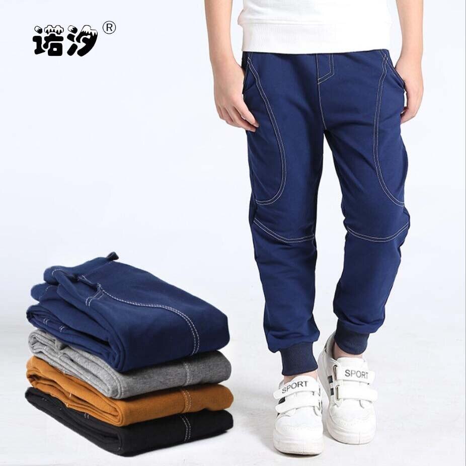 Pantalones para niños, pantalones casuales para niños, pantalones de algodón informales para primavera y otoño, prendas de vestir para niños, pantalones deportivos para niños 4-13T