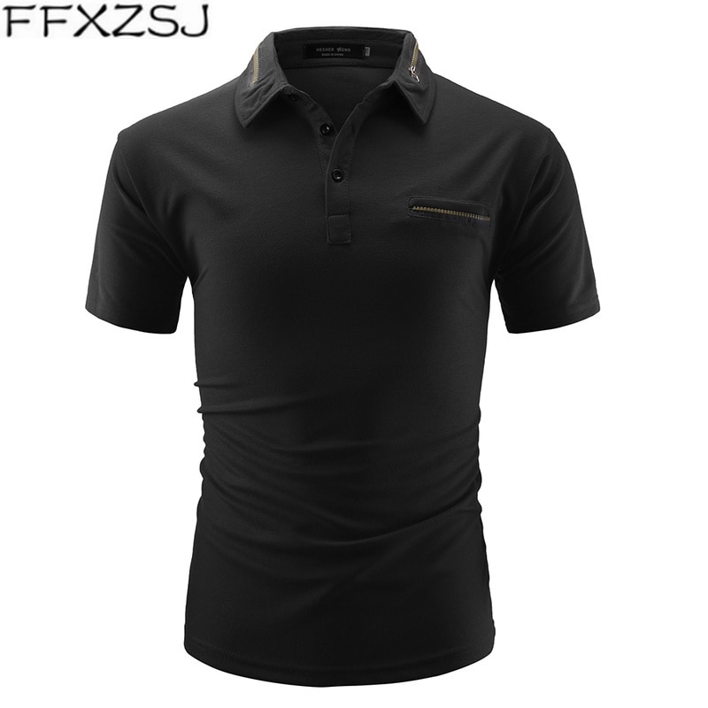Camisa para Hombre, Camisetas de moda para Hombre, Color sólido con cremallera...