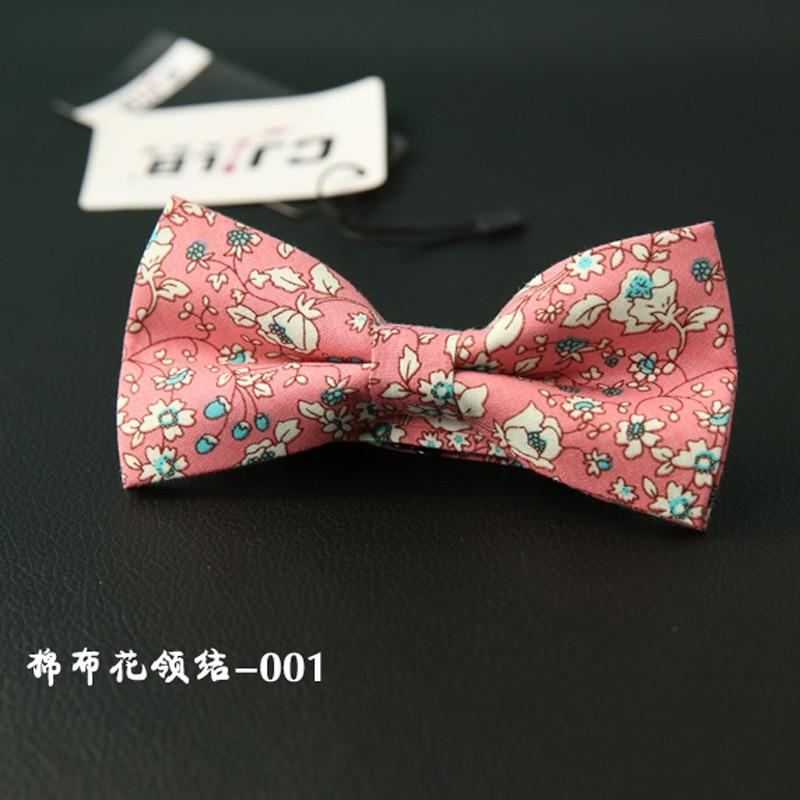 New Design Mens Bow Tie Male Necktie Business Wedding Neckties Bowtie Vestidos Gravata Cotton Print Floral 10pcs/lot