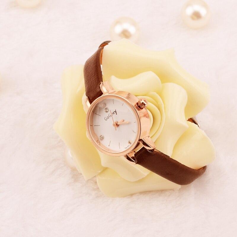 Mini relojes de mujer de la mejor marca gogoey de cuero fino de cristal reloj de pulsera reloj de mujer reloj femenino saat montre