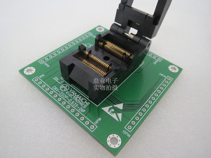 Original YAMAICHI asiento para prueba de Circuitos Integrados (IC) SSOP48/DIP48 quemando programador adaptador de enchufe de 0.635MM