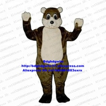 Brown Long Fur Otter Lutra Beaver Nutria Coypu Groundhog Bobac Woodchuck Mascot Costume Art Festival Opening Session zx2746