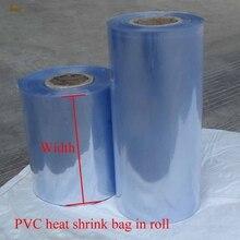 1 kg/lot 5/6/7/~ 32cm largeur PVC film thermorétractable tube en gros en rouleau transparent en plastique poly-sac cadeau cosmétiques emballage bricolage coupe
