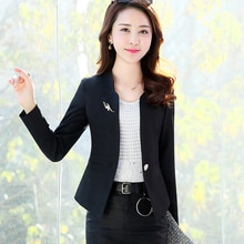 J63237 Spring Autumn New Fashion Women Blazer Casual One Button Small Suit Jacket Ladies Short Coats