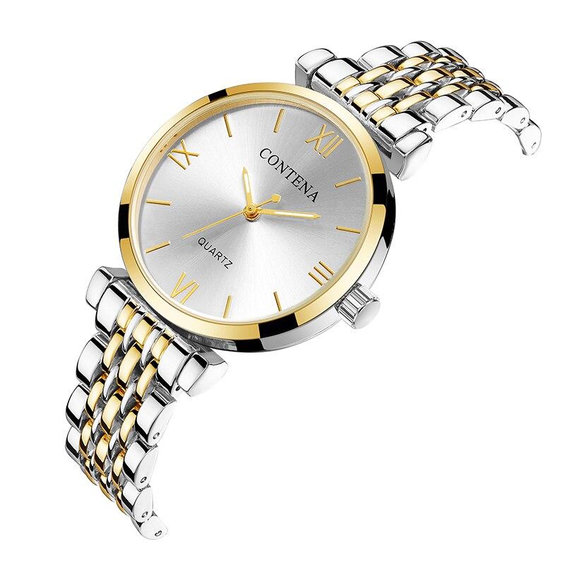 Женские часы с бриллиантом, модные часы из нержавеющей стали золотого и серебряного цвета, женские часы, женские часы, reloj mujer 2020