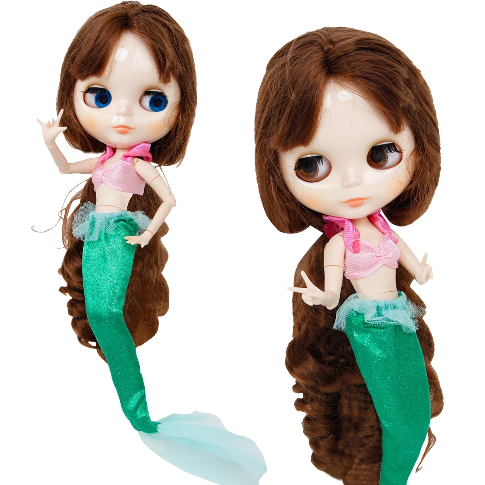 Сказочный костюм Русалочки, платье принцессы Ариэля, бар + рыбий хвостик, аксессуары для кукол, 11,5 дюйма