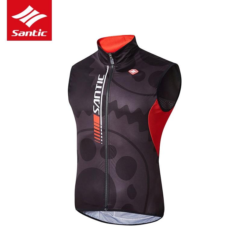 Santic-Chaleco de ciclismo resistente al viento para hombre, chaleco reflectante sin mangas para montar en bicicleta, Jersey de deporte de bicicleta antisudor para hombre
