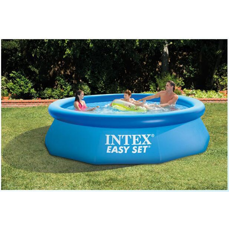 305cm 76cm INTEX azul AGP sobre el suelo piscina PISCINA familiar piscina inflable para adultos niños agua de verano