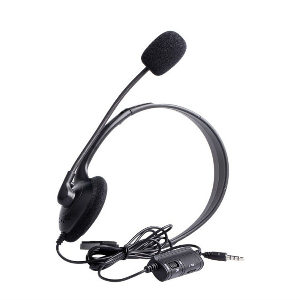 Fone de ouvido com fio fone de ouvido fone de ouvido microfone para sony playstation 4 jogo ps4 com microfone e controle de ligar/desligar, perfeito para o jogo