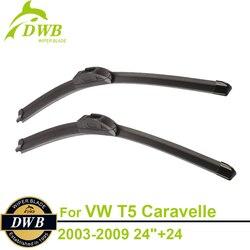 """Escovas para Volkswagen T5 Caravelle 2003-2009 24 """"+ 24"""", 2 pcs Frete Grátis, todos os Limpadores de Temporada de Mudança"""