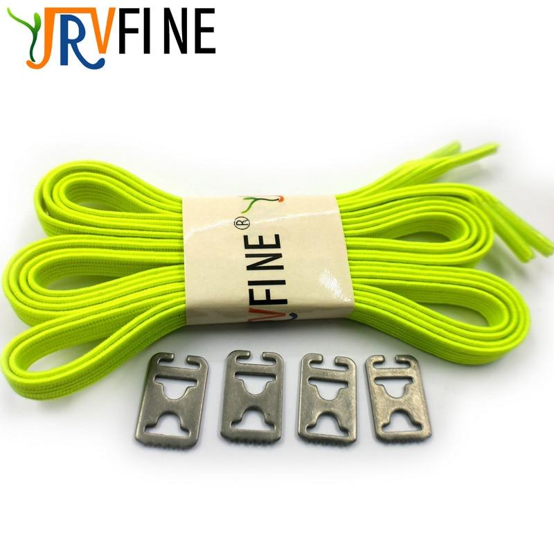 1 para Elastische Schnürsenkel für Schuhe Lock Erwachsene Kinder Alle Sneaker Keine Krawatte Schnürsenkel Fluoreszierende Grün Faul Flache Schnürsenkel saiten