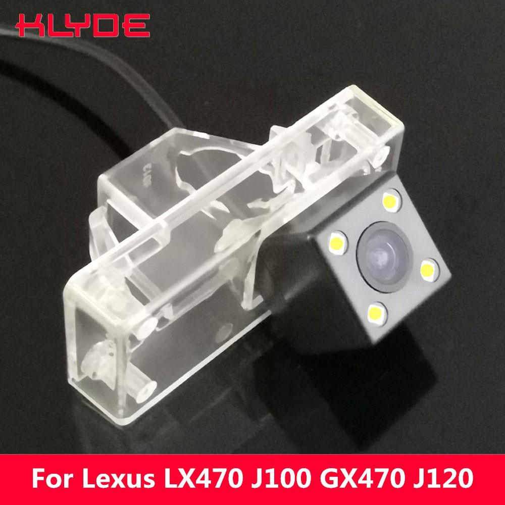 Cámara de asistencia de estacionamiento reversa de visión nocturna HD CCD para coche KLYDE para Lexus LX 470 LX470 J100 GX 470 GX470 J120