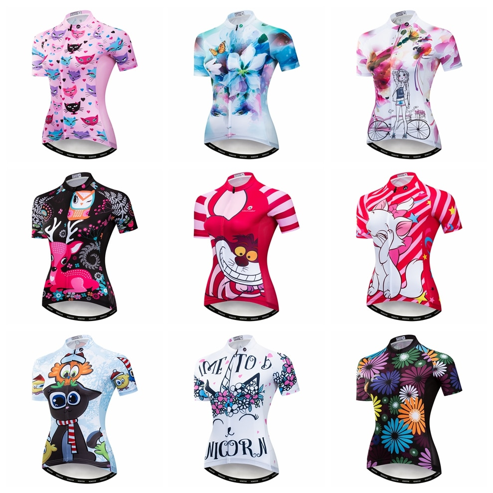 Cats 2021 Cycling jersey Women Bike jerseys MTB Top Maillot Pro Team Summer racing Road Mountain sports shirt Breathable pink