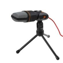 TGETH SF-666 Microphone 3.5mm Jack filaire avec support trépied micro portable pour PC bavardage chant karaoké ordinateur portable
