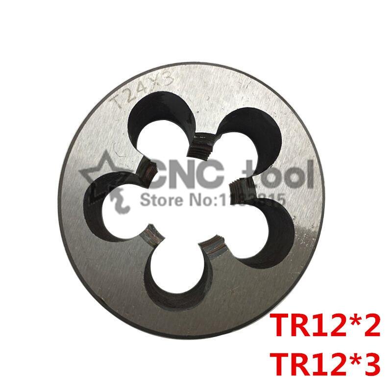 Free shipping 1PCS TR12*2 die ,T = TR trapezoidal round die T die,Threading Tools Lathe