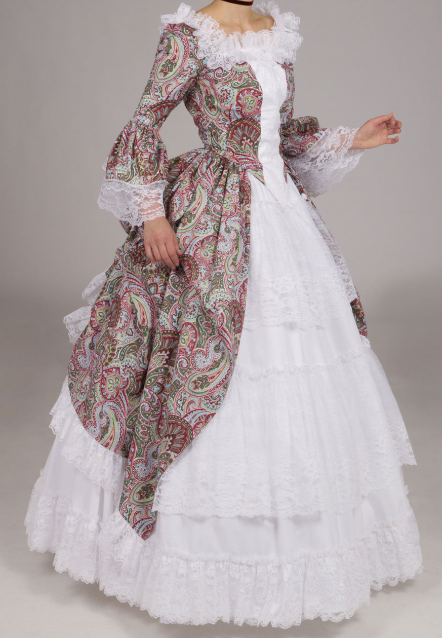 White Victorian Princess Cotton&Lace Solid Ball Gown Vantage Skirt Retro Skirt Petticoat Vanessa Custom Make Size