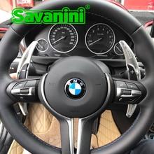 Savanini Aluminum Steering Wheel DSG Shift Paddle Shifter Extension For BMW M3 M4 M5 M6 X5M X6M auto car styling sticker free