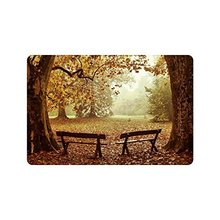 Paillasson de porte antidérapant pour bancs de parc   Décoration de maison, arbre en bois dautomne, paillasson dentrée intérieure et extérieure, support en caoutchouc